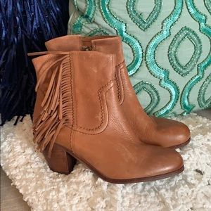 Sam Edelman LOUIE FRINGE SADDLE Booties Boots 8